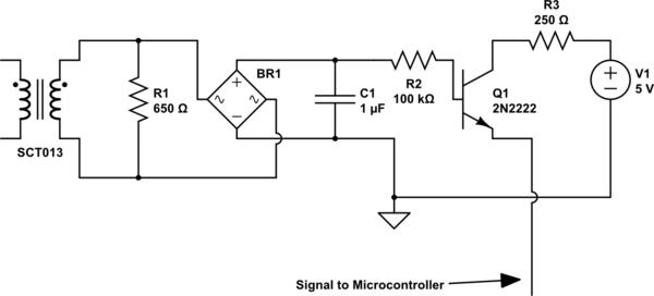 ac current sensing rectify amplify levelshift