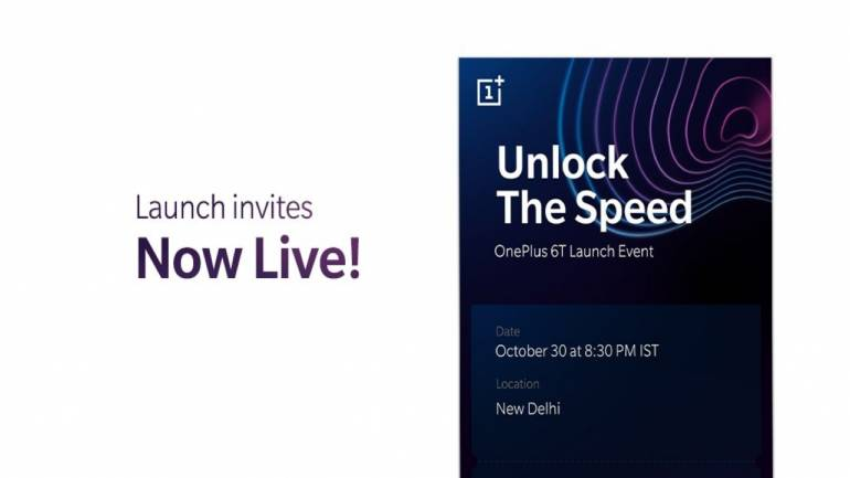 OnePlus selling OnePlus 6T\u0027s launch event passes at Rs 999 including
