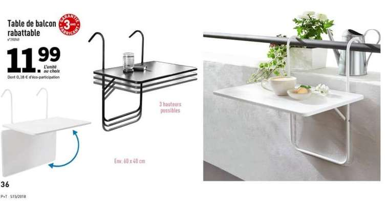 Lidl Table Pliante Table Balcon. Stunning Feifei Table Carre Se Pliante Dart