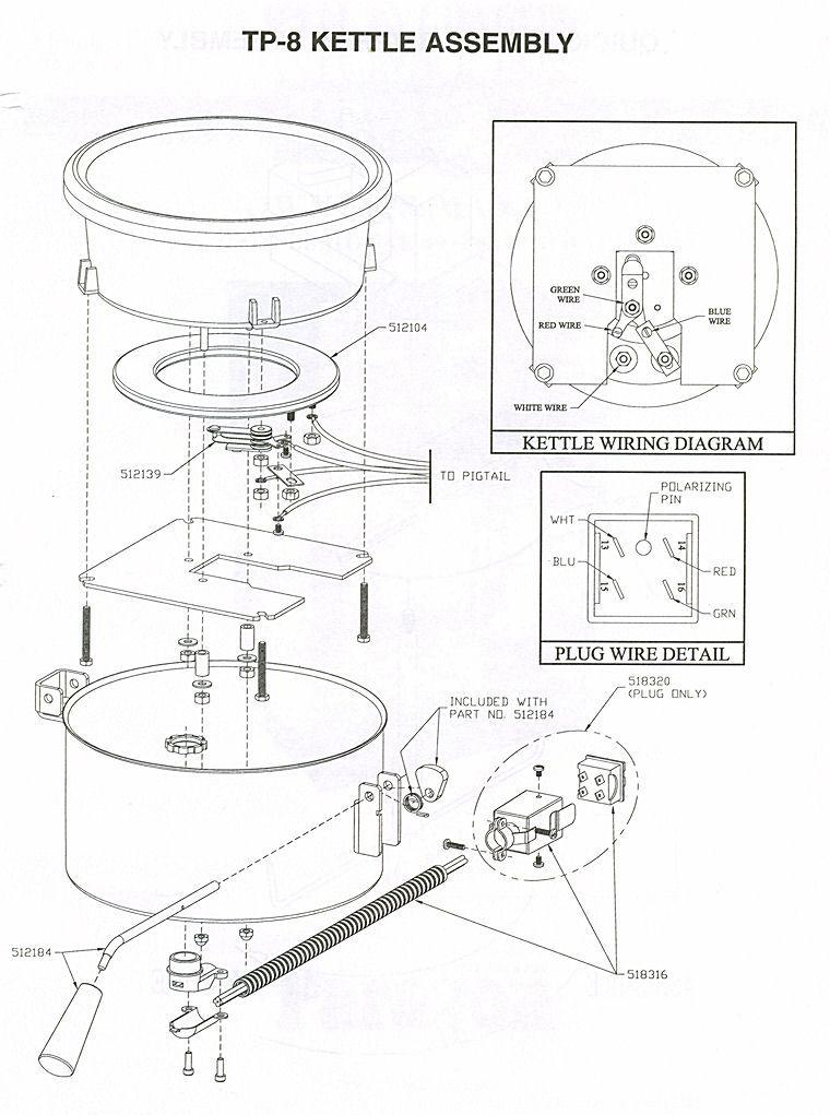 roosevelt popper popcorn machine wiring diagram