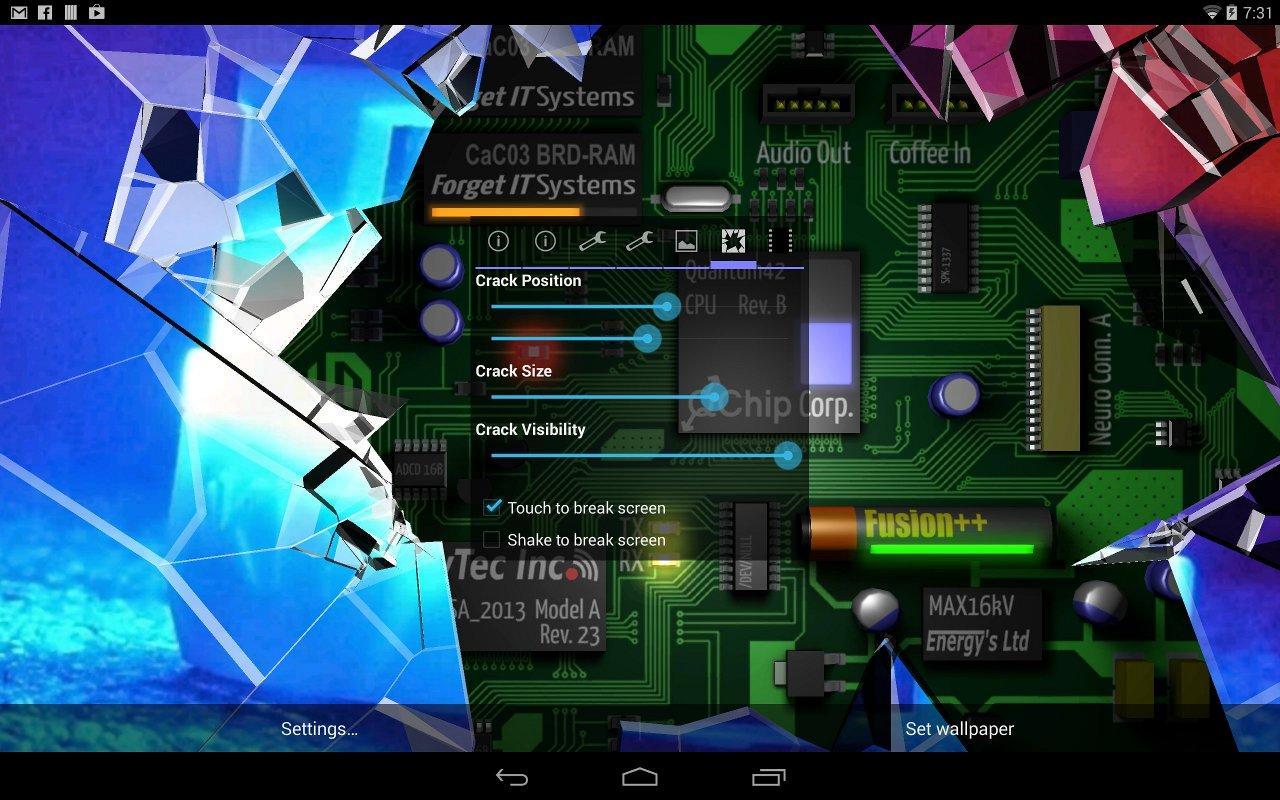 3d Depth Wallpaper S8 Cracked Screen Gyro 3d Pro Parallax Wallpaper Hd App
