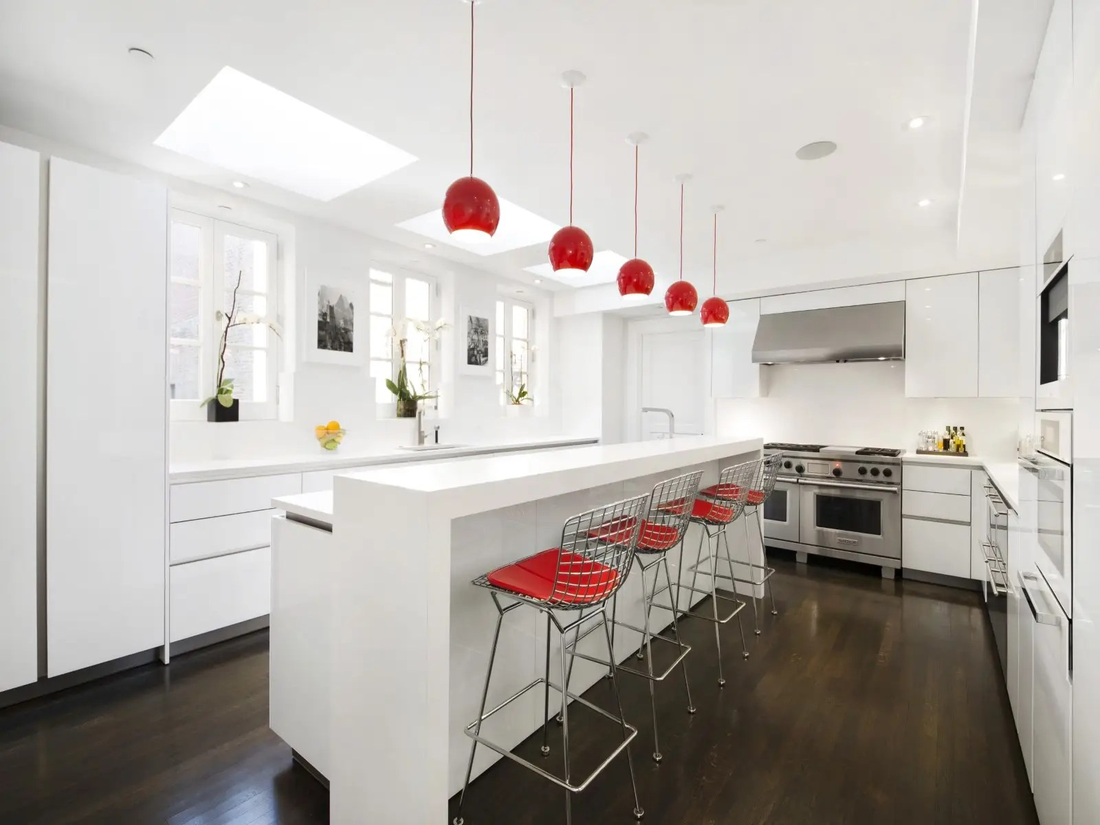 contemporary chic eat kitchen skylights date eat kitchen