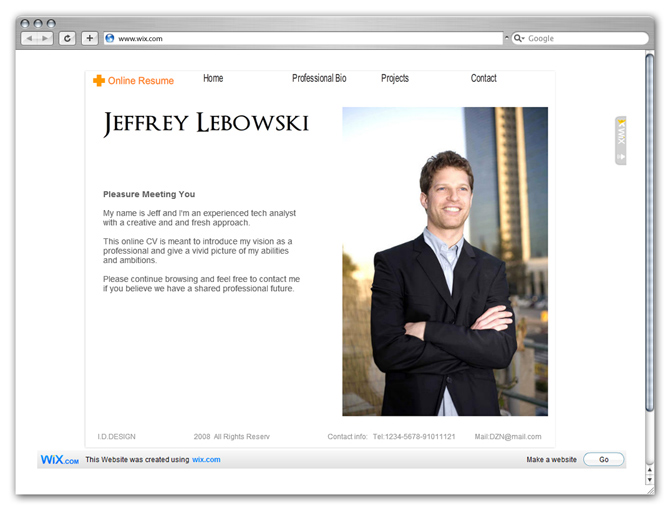 How to Create a Killer Online CV - resume website example