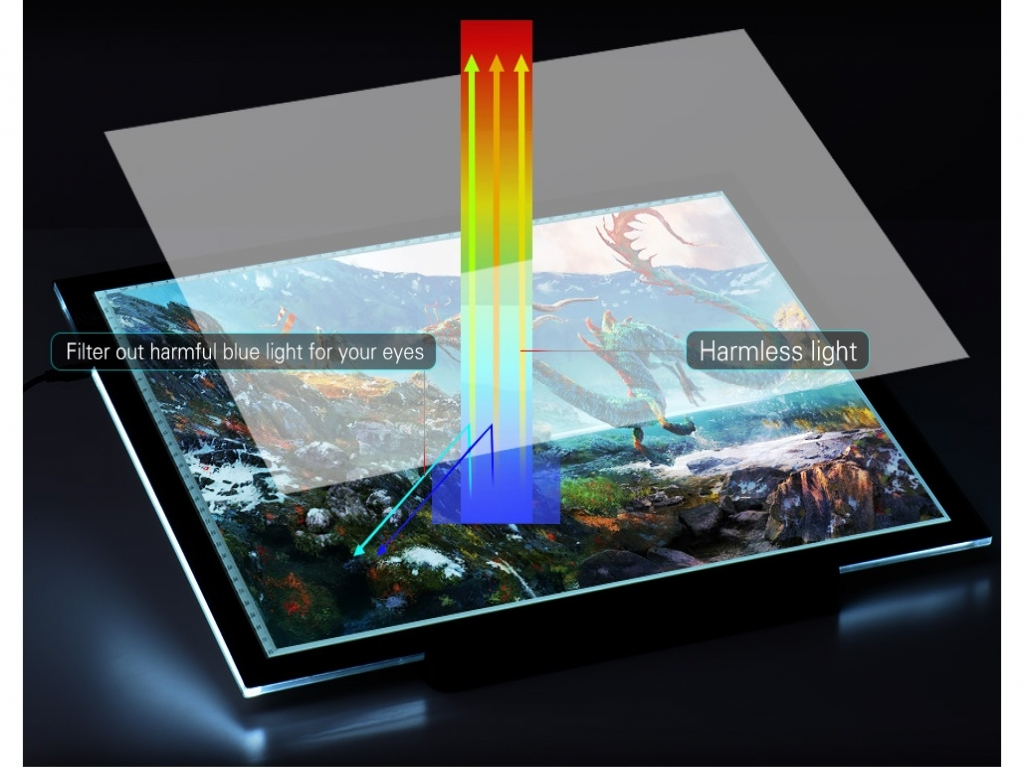 Led Lichtpanel Lightpad A4 Pro Voor O A Diamond Painting Led Lichtpaneel