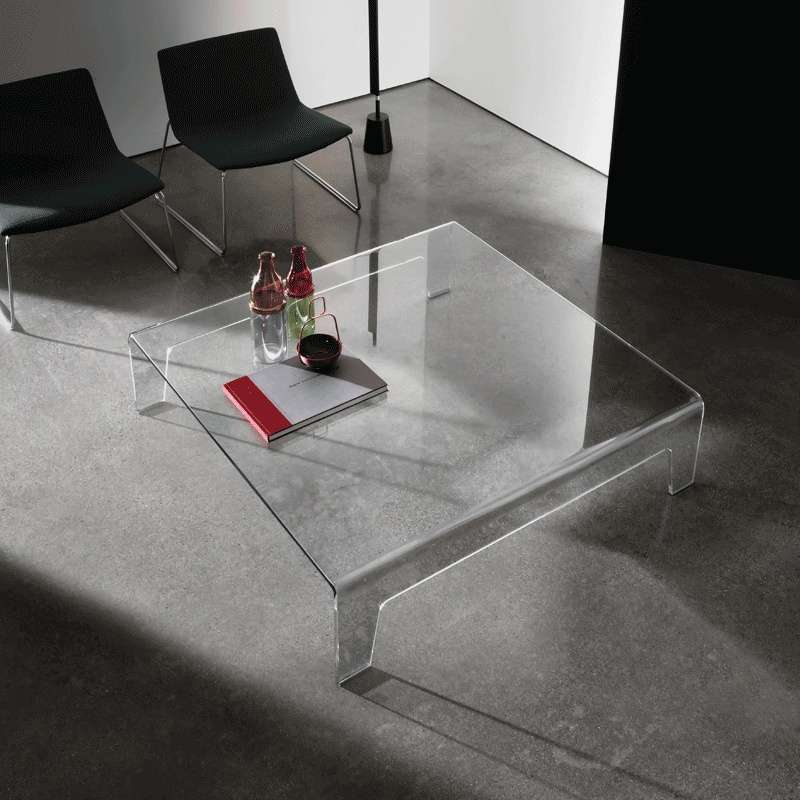 Table Basse Carrée Verre Table Basse Design Carrée En Verre - Frog Sovet® | 4-pieds.com