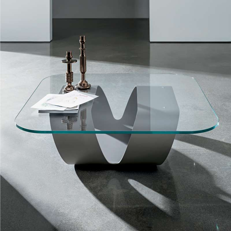 Table Basse Design En Verre Ring Sovet 4 Pieds Com