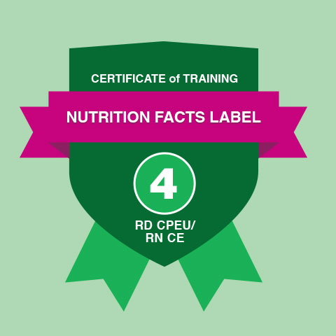 Nutrition Education Certificate of Training Abbott Nutrition