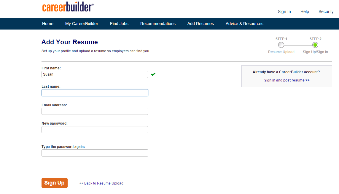 careerbuilder resume title examples