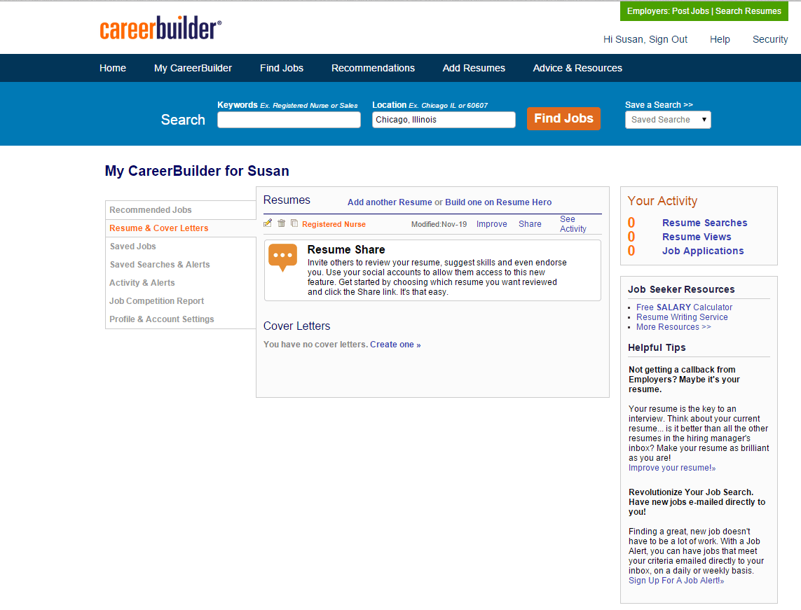 careerbuilder human capital management product screenshot ...