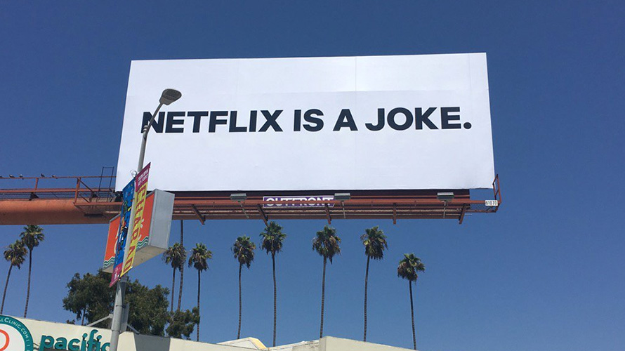 Car In Space Wallpaper Netflix Is A Joke Billboards In New York And L A Are