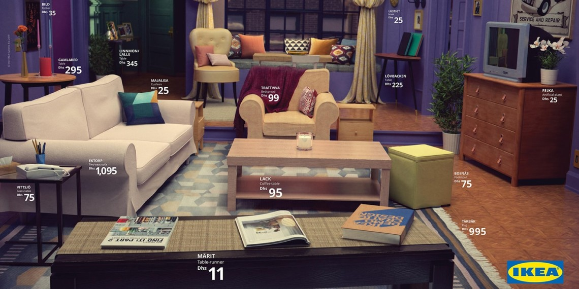 New York Poster Ikea Q A How Ikea Recreated Famous Tv Living Rooms Boosting