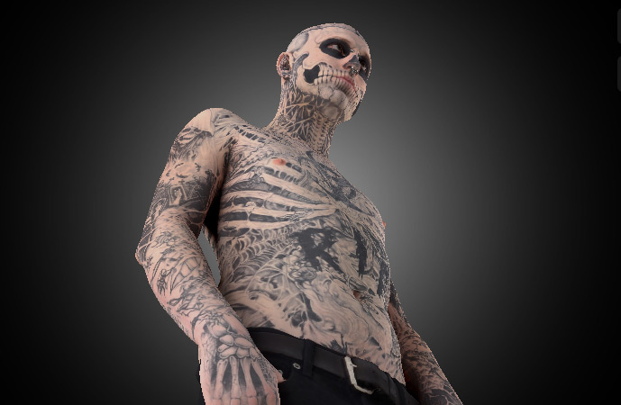 Skeleton Head Wallpaper 3d Dermablend App Gives You The Skinny On Super Tattooed