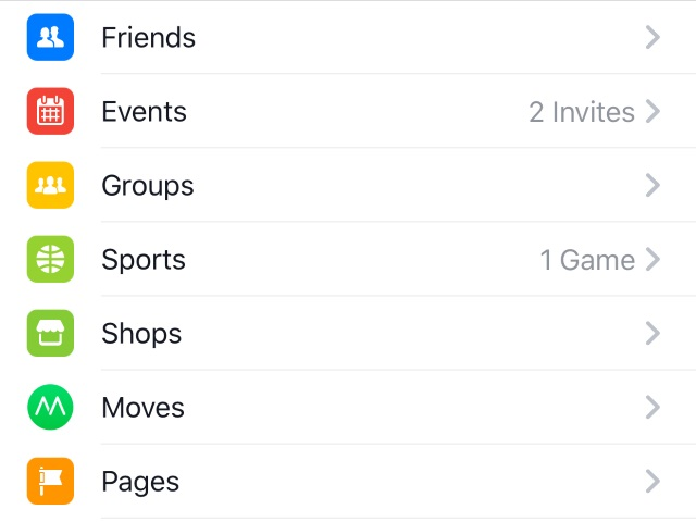 Facebook-Owned Moves App Showing Up in Flagship iOS App\u0027s \u0027More