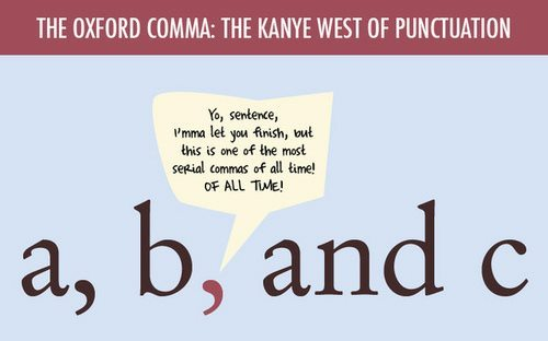 STUDY Oxford Commas for Grammar Snobs Only (Ironically) \u2013 Adweek - comma and and
