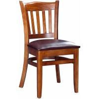 Crown Back Wood Restaurant Chair