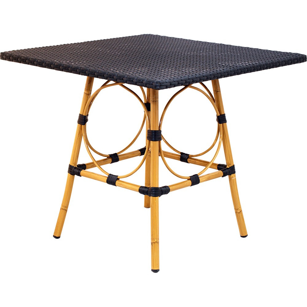 Rattan Table Rattan Table Top With Aluminum Bamboo Base
