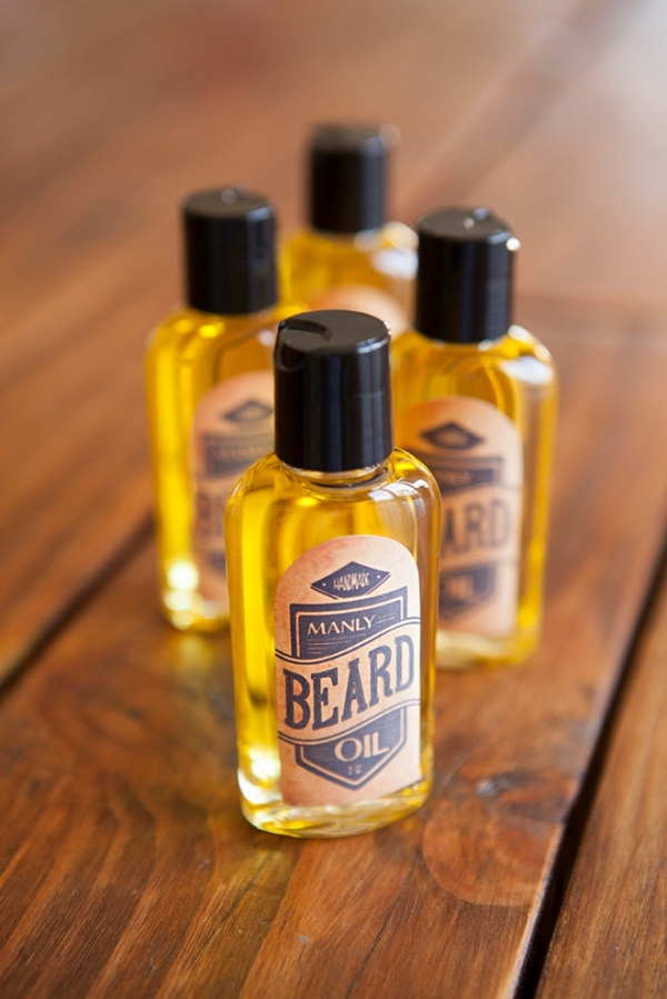 Manly Beard Oil Favors with Free Printable Labels - Aisle Society