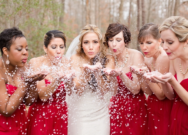 Quintessential Red And White Christmas Wedding Aisle Society