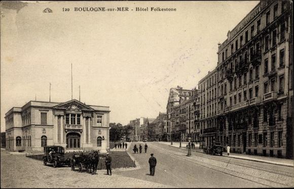 Postcard Boulogne sur Mer Pas de Calais, Hôtel akpooluk