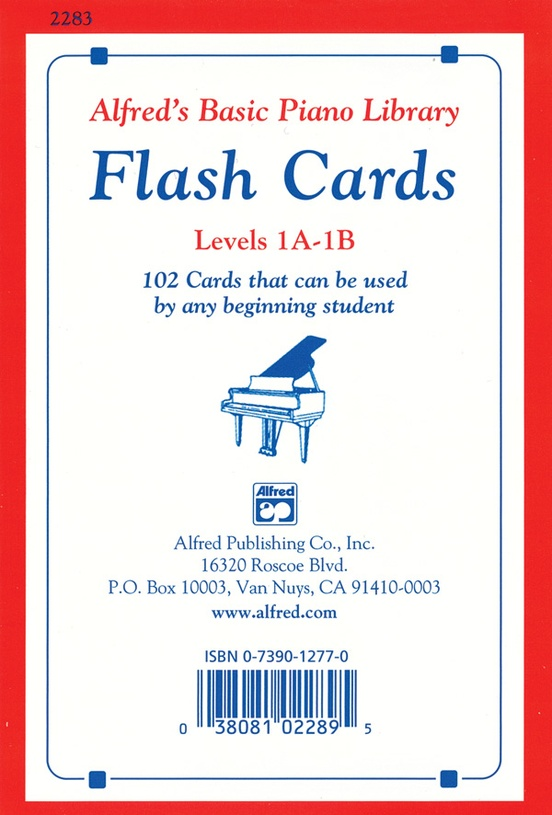 Alfred\u0027s Basic Piano Library Flash Cards, Levels 1A  1B Piano