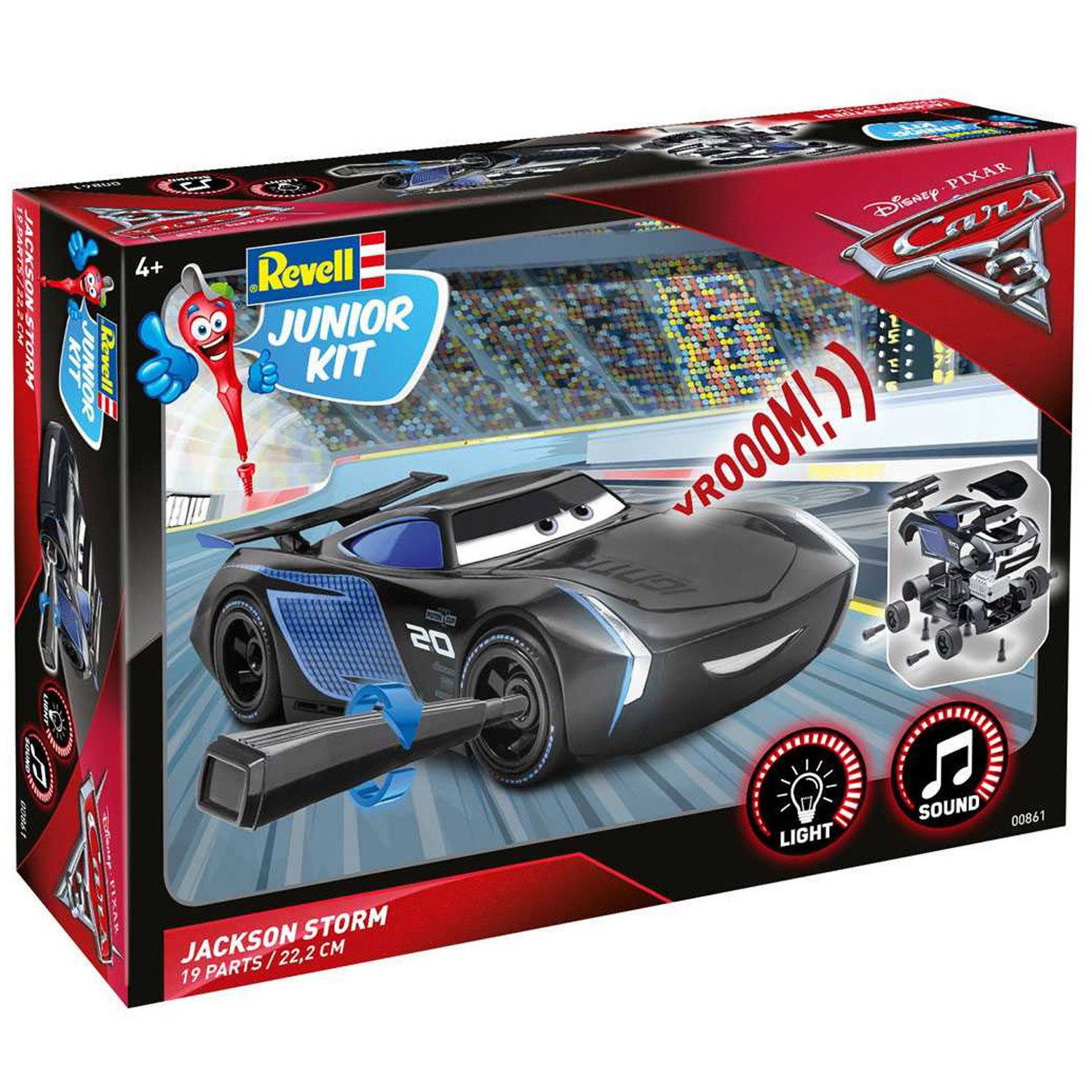 Cars 3 Jackson Storm Jouet Maquette Voiture Junior Kit Cars 3 Jackson Storm
