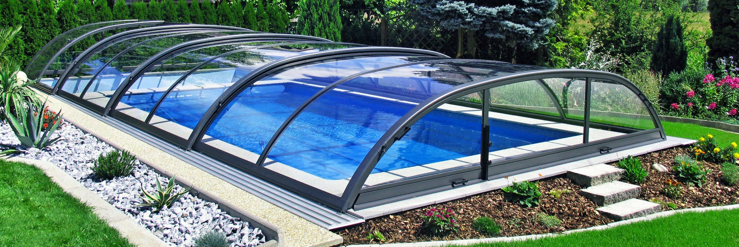Glas Pool Retractable Pool Enclosures For Your Swimming Pool Sunrooms