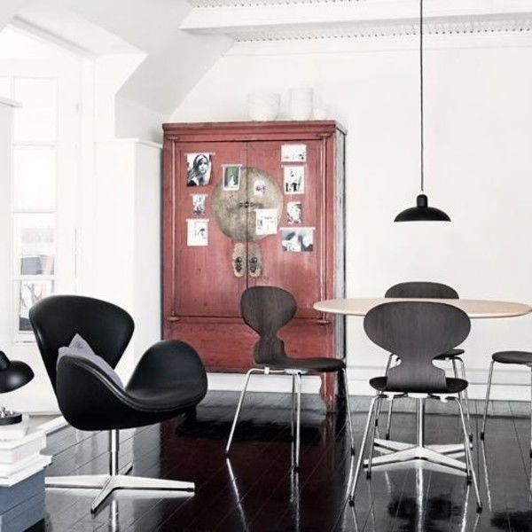 Designer Sessel Outlet Swan Chair Sessel Leder | Fritz Hansen | Ambientedirect.com