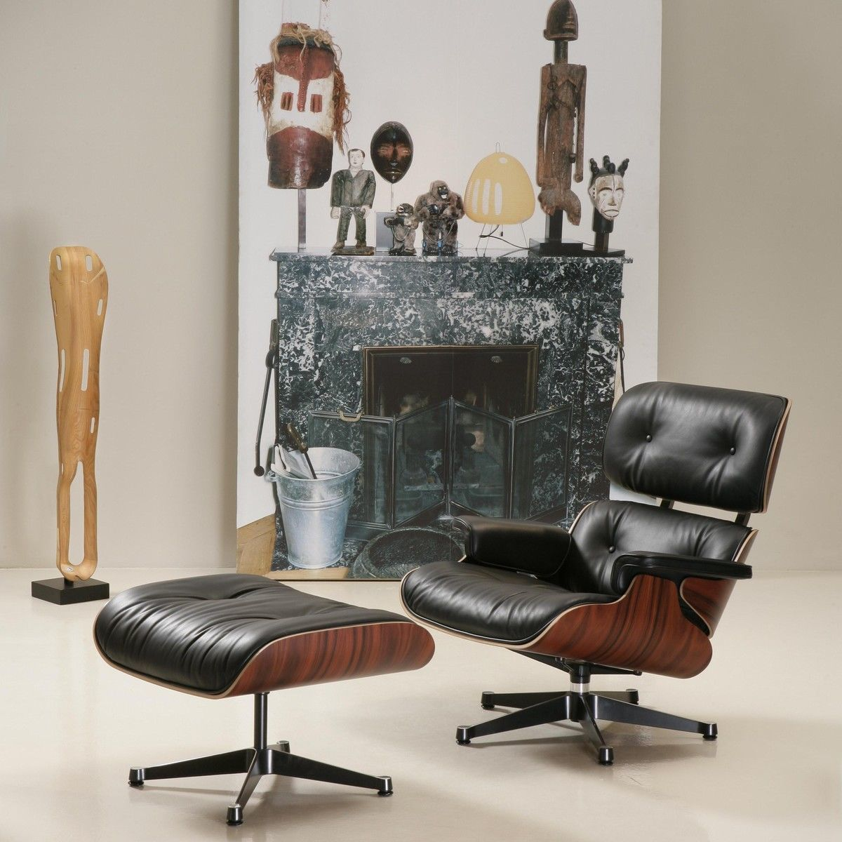 Eames Stuhl Gepolstert Eames Lounge Chair Ottoman | Vitra | Ambientedirect.com