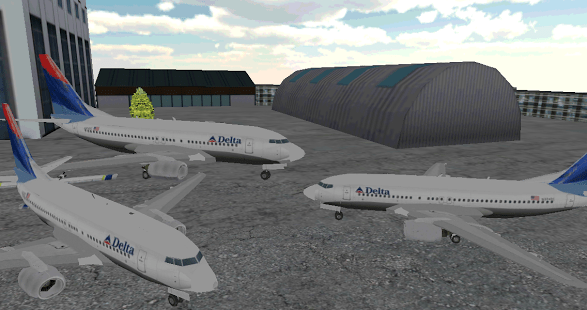 Airport 3D airplane parking