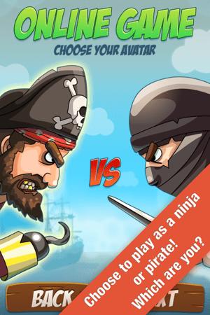 Pirates VS Ninjas: Two player