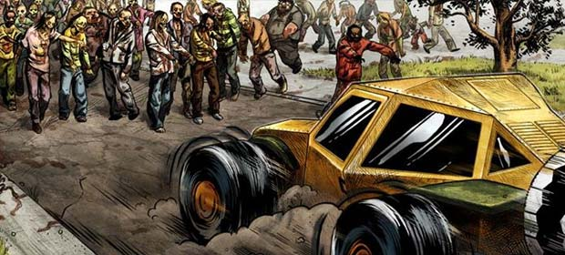 Zombie Rider: Run Smashing Car
