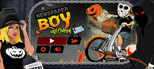 Newspaper Boy Halloween night