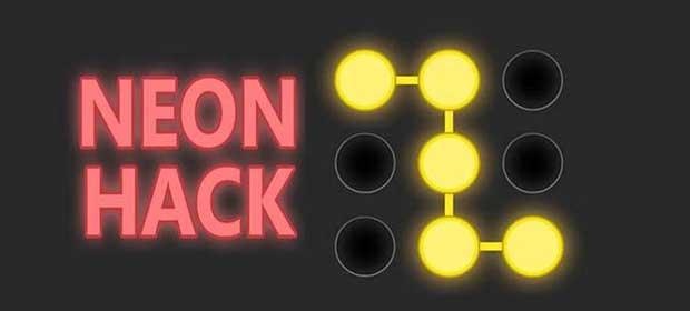 Neon Hack: Pattern Lock Game