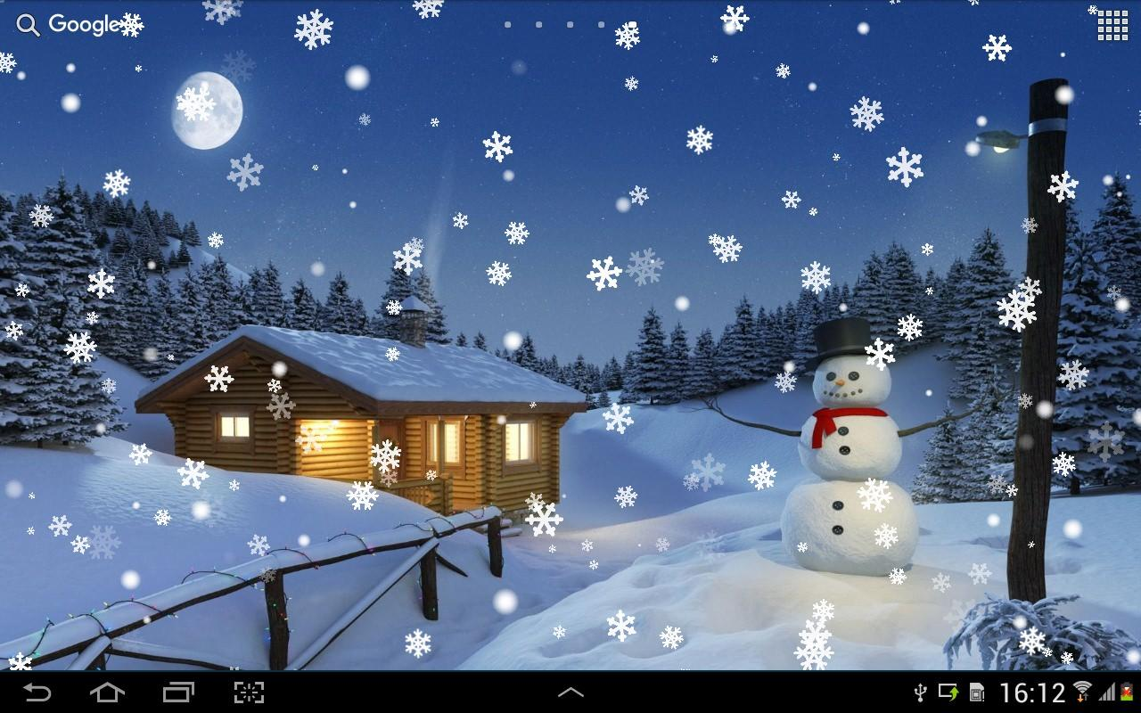3d Cartoon Wallpapers Download Snow On Screen Winter Effect 187 Apk Thing Android Apps