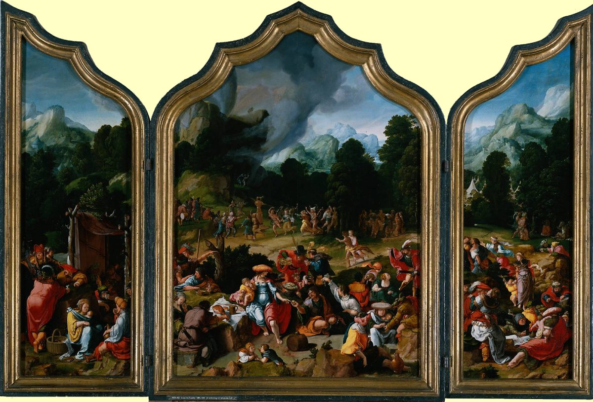 Lucas Van Leyden Lucas Van Leyden The Adoration Of The Golden Calf