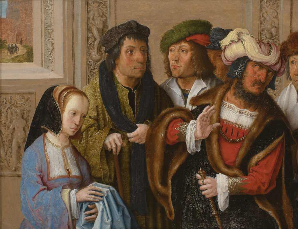 Lucas Van Leyden Lucas Van Leyden Potifar 39s Wife Shows Joseph 39s Gown To