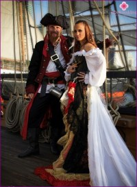 Wedding in pirate style