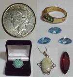 Coins, Gemstones, Jewelry