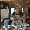 Kristy  Cunnane offers a taste of her apple pie filling