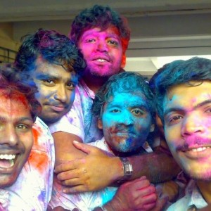 Holi celebrations at College of Engineering, Adoor Kerala. For more info, check out the Wikipedia entry.