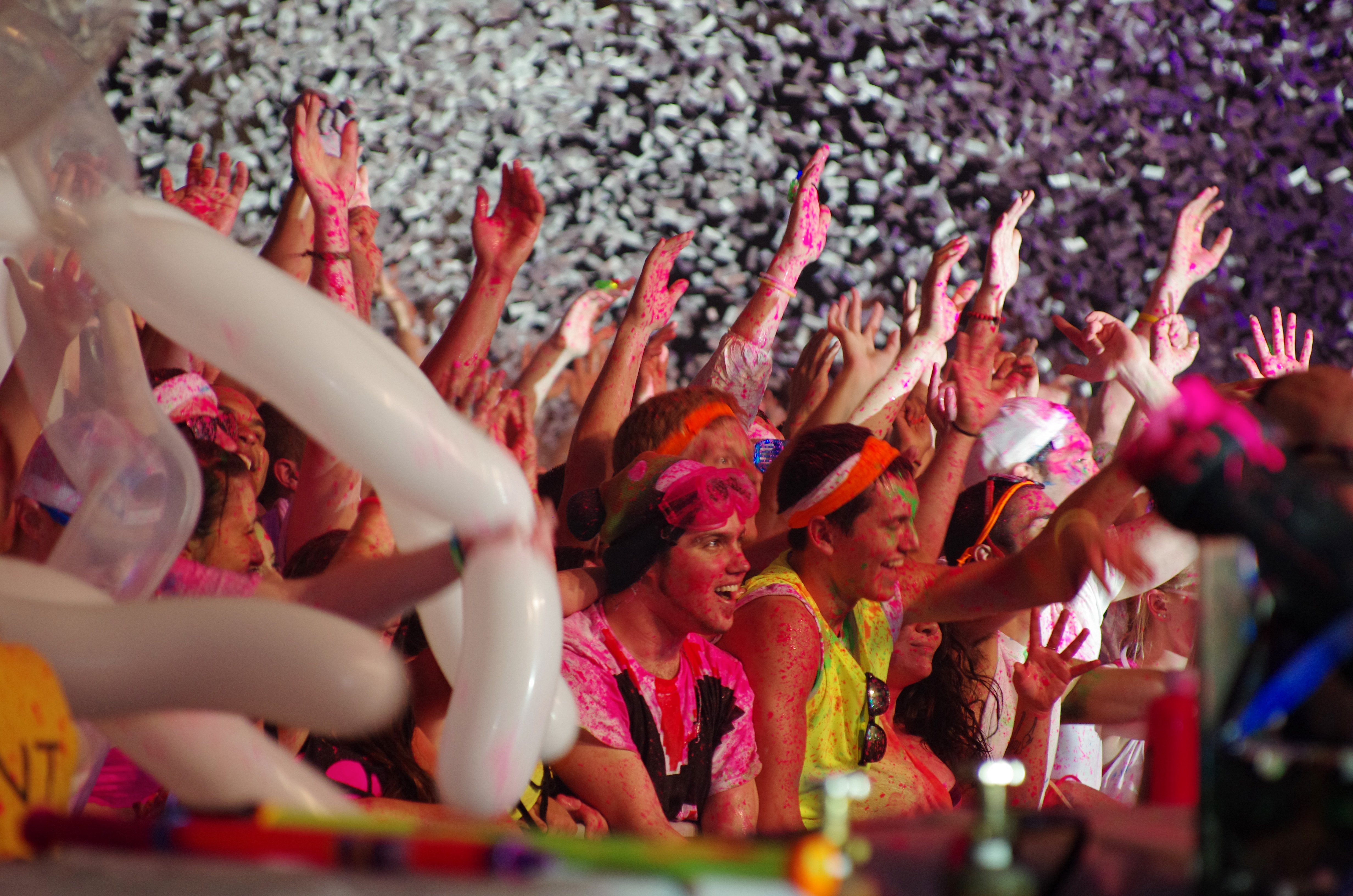 Students packed the Field House on Wednesday night for Dayglow, a electronic music show that bills itself as the world's largest paint party.