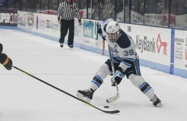 The University of Maine men's hockey team remains winless at home following a loss and tie to the University of Vermont.
