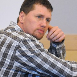 Michael Chapman during his trial at the Penobscot Judicial Center in Bangor on April 21, 2013.