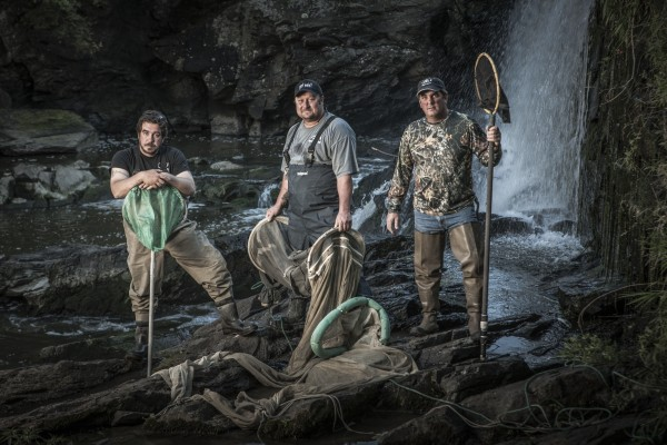 Cast members of the Maine-shot show about elver fishing, &quotCold River Cash,&quot on Animal Planet.