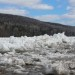 A member of the Aroostook County Emergency Management team took this photo of ice in a waterway around Fort Kent on Saturday afternoon.