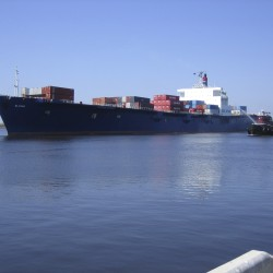 The El Faro is shown in this undated handout photo provided by Tote Maritime in Jacksonville, Florida, Oct. 2, 2015. The U.S. Coast Guard said Friday it was searching for the 735-foot cargo ship with 33 crew members aboard reported to be caught in the powerful Hurricane Joaquin near Crooked Island, Bahamas.