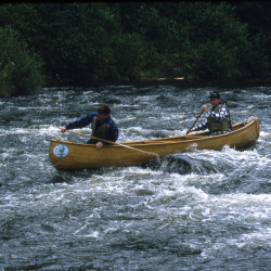 Students test their outdoor skills on the Allagash Wilderness Waterway in 2012.