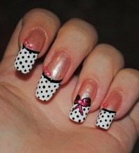Polka Dot Nail Designs.