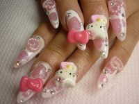 Hello Kitty Nail Art Designs.