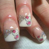 9 Cute and Easy Hello Kitty Nail Art Designs With Images ...